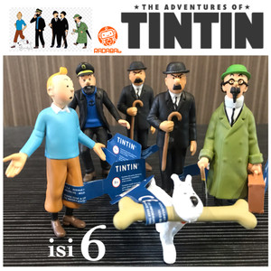 Action Figure The Adventure of Tintin / Tin Tin Family set isi 6