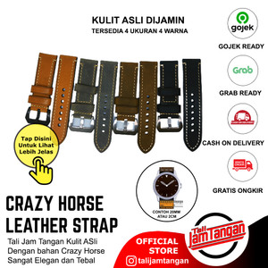 20 22 24 26mm PAM Leather Strap Crazy Horse Import