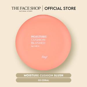 [The Face Shop] Moisture Cushion Blush 03 Coral - 8g - Original
