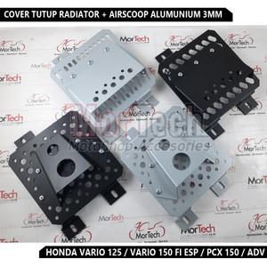 Cover Tutup Radiator + Air Scoop Pcx 150 Vario 150 125 (2017) Led Adv