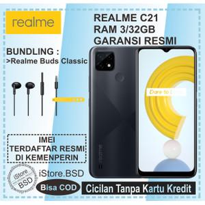 REALME C21 RAM 3/32GB   13MP AI TRIPLE CAMERA   GARANSI RESMI 1 TAHUN