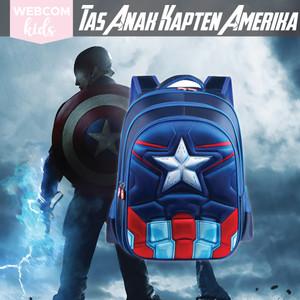 Tas Sekolah Anak Laki Cowok Karakter Kartun Captain America Avengers