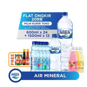 AQUA Air Mineral 1500ml + 600ml + Mizone + Levite FREE ABC Hampers