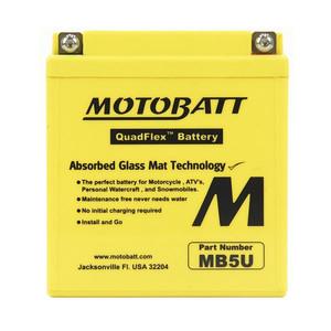 Motobatt Quadflex Mb5U - 7Ah - Garansi 1 Tahun, Free Kaos