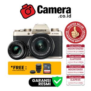 FUJIFILM X-T100 Kit 15-45mm + XF 35mm f/1.4 (Gold)