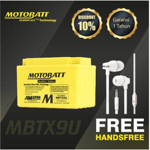 Motobatt Quadflex Mbtx9U - 10.5Ah - Garansi 1 Tahun, Free Kaos