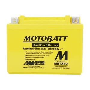 Aki Motobatt Quadflex Mbtx4U - 4.7Ah - Garansi 1 Tahun, Free Kaos