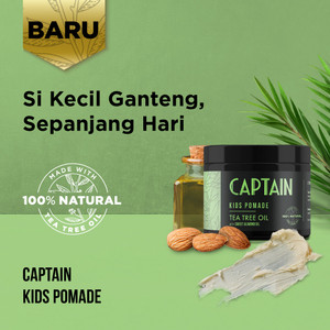 Captain Kids Pomade with 100% Natural Tea Tree Oil