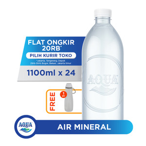 AQUA Life 1100ml Box (24 botol) FREE Water Carrier