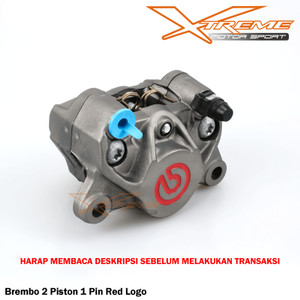 Kaliper Brembo 2 Piston 1 pin Red Logo UniversaL