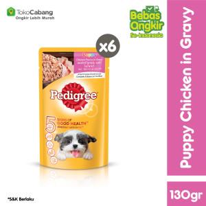 PEDIGREE Pouch Makanan Anjing Basah rasa Chicken 130gr - isi 6