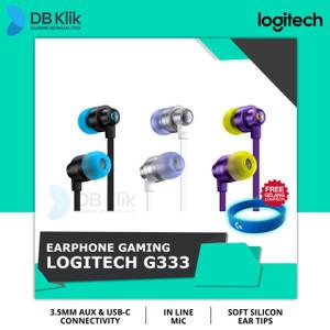 Earphone Gaming Logitech G333 Wired - Logitech G333 Gaming Earphone