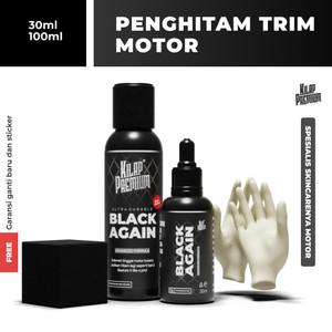 Kilap Premium - Black Again   Penghitam Motor Non Permanen Body Kasar
