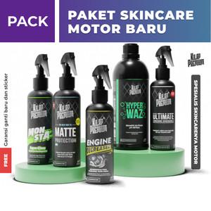 Paket Skincare Motor Baru by Kilap Premium - Perawatan, Wax, Degreaser