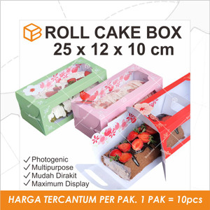 RC251210 - Roll cake box. Packaging. Cake box
