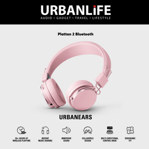Urbanears Plattan II Bluetooth On-Ear Headphone - Powder Pink