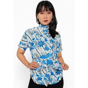 [FREE MASKER] Blouse Batik Wanita Katun Rianty Tiras Cempaka Danera