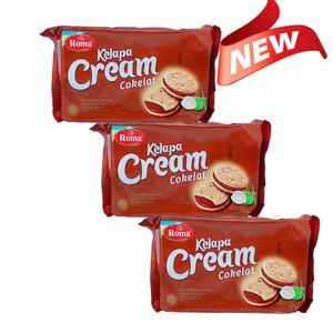 ROMA Kelapa Cream Coklat 189 GR X 3 Pack (NEW)