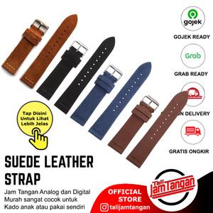 20mm, 22mm Rolex Suede Leather Strap Tali Jam Tangan Kulit Asli