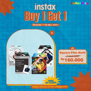 Buy 1 GET 1 Fujifilm Paper Instax Square SINGLE