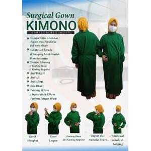 APD Surgical Gown Kimono / Gaun Operasi / Baju Scrub Ok Oka Kimono