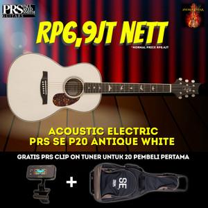 PRS SE P20E ANTIQUE WHITE PARLOR ACOUSTIC ELECTR GUITAR LIMITED ED