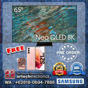 SAMSUNG Neo QLED 8K SMART TV 65 Inch QA65QN800 FREE GIFTS