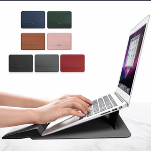 Premium Sleeve Laptop PU with Magnet and Kickstand 13 14 15 15.6 inch