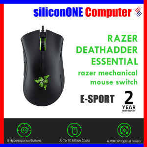 Razer DeathAdder Essential Gaming Mouse 6400 dpi 2 Tahun Indonesia