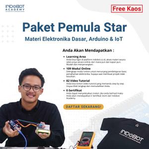 Paket Pemula Star FREE KAOS - Materi Elektronika Dasar, Arduino & IoT