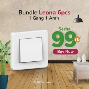 (Serba 99rb) Schneider Electric Leona Saklar 1 Gang 1 Arah