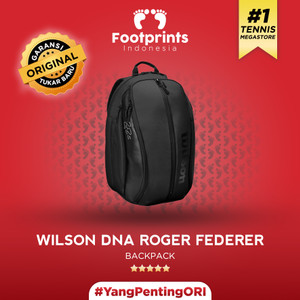 Tas Raket Tenis Wilson Federer DNA Backpack Black Tennis Bag Original