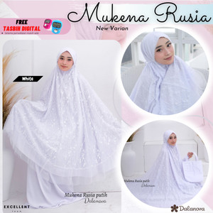 Mukena Dalanova Rusia Warna Putih New Varian Original Limited