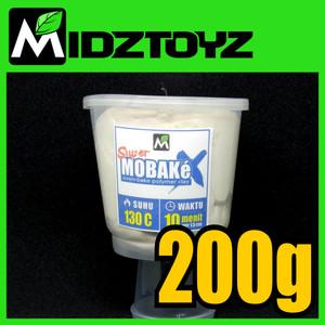 Super Mobake X - oven bake Polymer Clay - SMeX PUTIH 200g