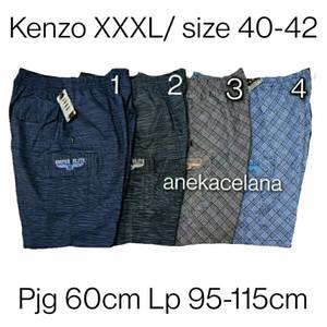 Celana Pendek Cargo Besar Karet Katun Motif Jumbo XXXL