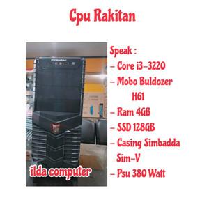 CPU Rakitan Core i3 / Ram 4gb SSD 128 GB Murah Siap Pakai