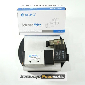 """Solenoid Valve """"XCPC"""" ~ 4V210-08-AC220V (Drat G1/4"""", AC220v)"""