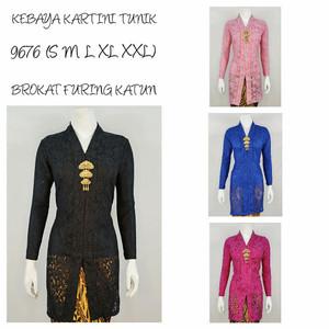 Indah Kebaya | 9593 | Kebaya Encim Lengan 7/8 Brukat Puring Katun
