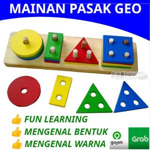 Mainan Pasak Bintang Geometri / APE Edukasi Edukatif Anak Aika Edutoys