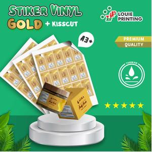 Sticker gold glossy A3+ +Kiss Cut