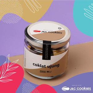 Kue Kering Coklat Ujung JNC J&C Cookies Jar Kaca