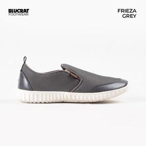 Sepatu Slip On Pria Blucrat Frieza Grey - Sepatu Slop Pria