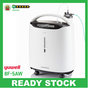 Yuwell 8F-5AW Oxygen Concentrator | Mesin Oksigen 5L | 95.5% | READY
