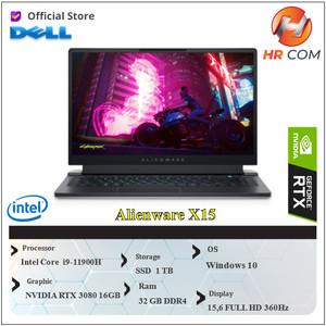 """DELL ALIENWARE X15 RTX3080 8GB i9-11900H 32GB 1TBssd W10 15""""FHD 360Hz"""