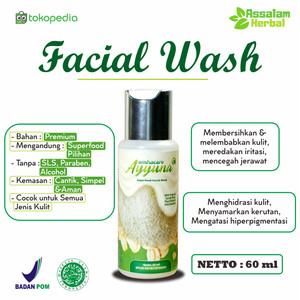 Ayyuna Facial Wash 60ml - Scrub Oats Niacinamide Avocado Aloevera