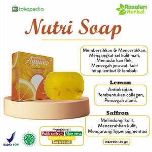 Facial Wash Ayyuna Nutri Soap 30gr - Saffron Tea Tree Lemon Aloevera
