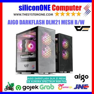 AIGO DLM21 MESH BLACK / WHITE DARKFLASH MATX