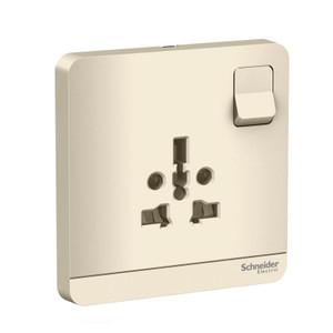 Stop Kontak dengan Switch 1G Schneider AvatarOn Gold E8315TS_WG
