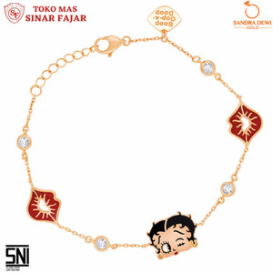 Gelang Sandra Dewi Gold Betty Boop Collection Beautiful Betty 3GZ0041