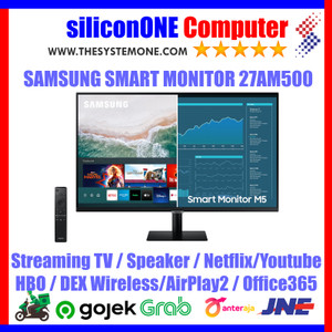 """Samsung 27"""" 27AM500 Smart FHD HDR10 M5 S27AM500 Airplay2 Streaming TV"""